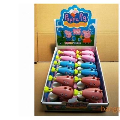馨彩122-6粉红小猪泡泡枪实色泡泡枪(18PCS)