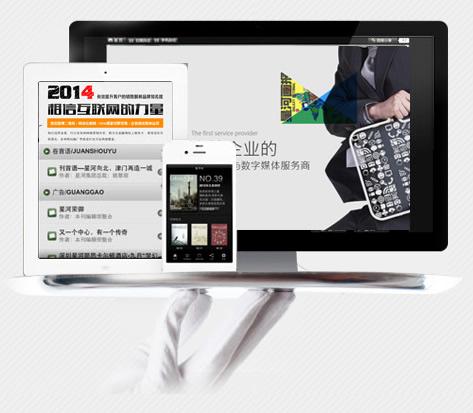 网站开发展示型-中英款(中英+PC+手机)